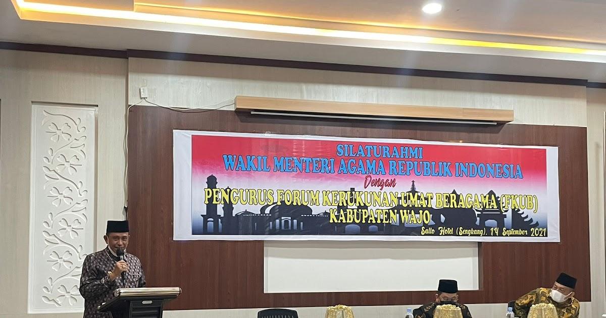 Dihadiri Wakil Menteri, Bupati Wajo Ajak Pemuka Agama Sukseskan Vaksinasi